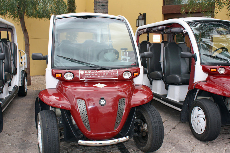 Golf carts used at the Montelucia Resort. (Paradise Valley, Arizona)