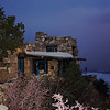 Look Out Studio, built in 1914, on the edge of Grand Canyon just before sunrise.