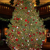Christmas tree in the lobby of El Tovar.