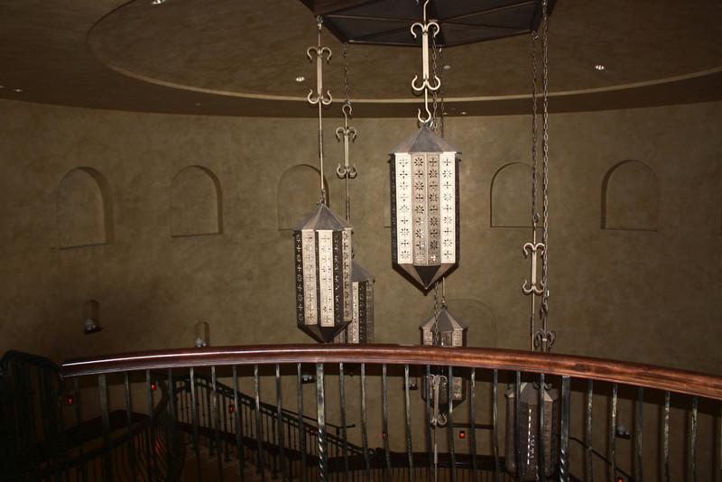 Joya Spa stairwell.