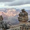 Balanced boulder at Grand Canyon.