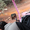 Our Pink Jeep Tour driver/guide, Reé, navigating down a rocky incline. A former hairdresser from N.J., 9 years ago she decided to change her life & has been a Pink Jeep ever since. Thanks, Reé for a great experience!