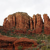 As the sky brightens, the color of the rocks intensifies. (Sedona)