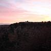 Sun rising over El Tovar at Grand Canyon.