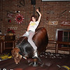 Riding the bull in a Scottsdale restaurant.