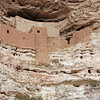 This five story dwelling is 100 feet (more than 30 meters) above the valley and had about 45 rooms. (Montezuma's Castle, Arizona)