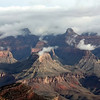 Clouds floating above Grand Canyon.