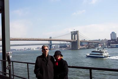 Bob & Ruth by the Brooklyn Bridge
