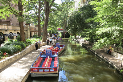 On the River walk in San Antonio, TX