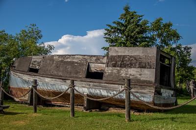 Old boats in Cornucopia, WI