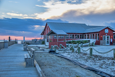 The Shanty Restaurant  in the historic Cape Charles Harbor on the Eastern Shore of Virginia.