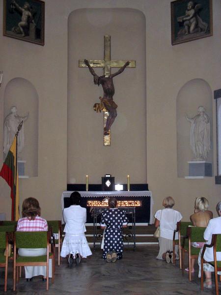 At prayer. (Vilnius, Lithuania)