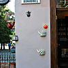 Coffee~tea shop entrance. (Vilnius, Lithuania)