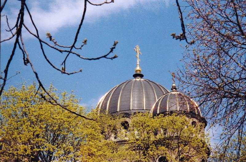 Church domes. (Riga, Latvia)