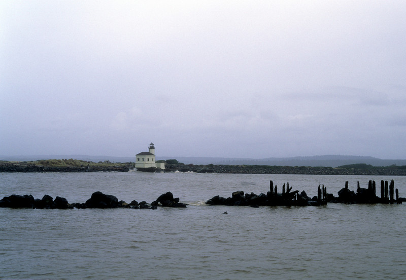 Bandon lighthouse and jetty.