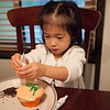 Ally decorating cupcakes