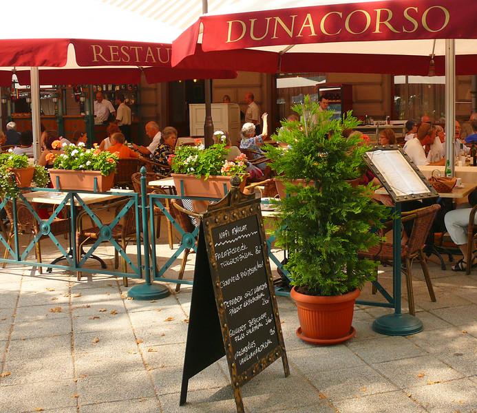 8-27-07 Budapest - Lunch at Dunacorso  jpg