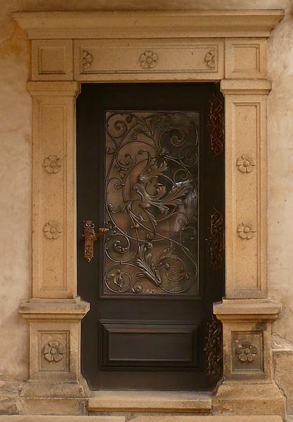 9-3-2007 Telc Museum Door Detail