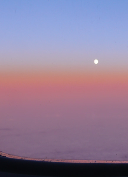 8-25-07 Moonrise Flying to Budapest