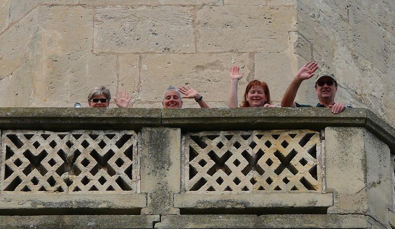 8-31-2007 Into Moravia - Castle Lednice - Minaret Tower - Mary, Marcy, Kara, Steve