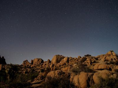 Stars above Jumbo Rocks