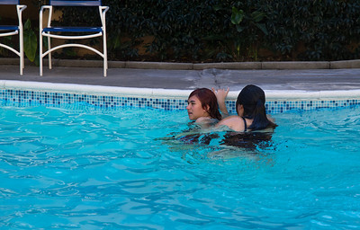 The pool in Santa Monica was actually warm, unlike the others.
