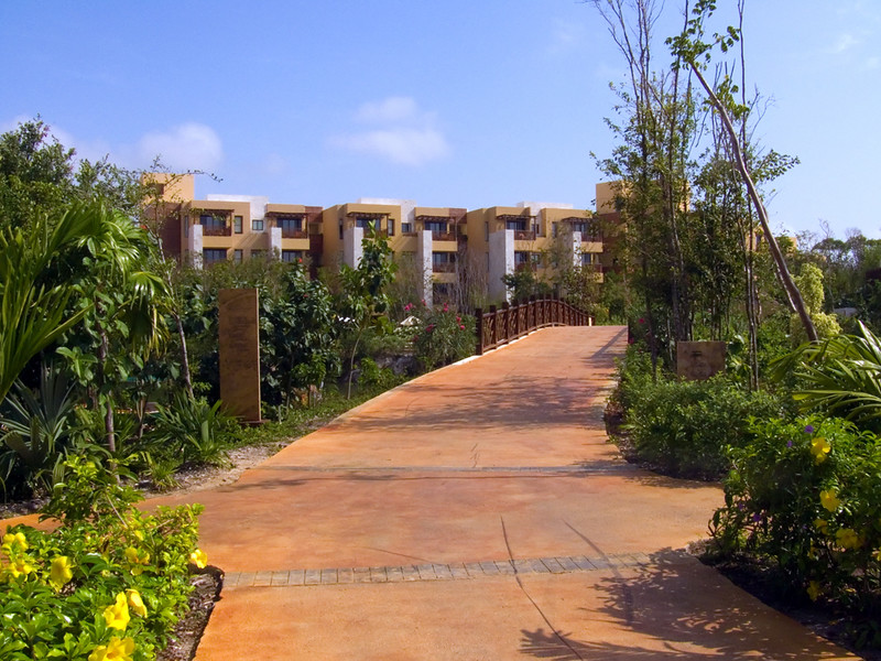 The Fairmont Mayakoba is HUGE. This is a look back heading from our room ( 207 ) back to the main hotel where the conference rooms are.