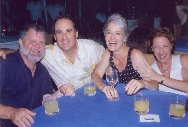 Saturday night beach party with Bill and Lissa from Arizona. MARGARITAS!