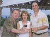 Saturday night beach party - Dan, Aimee and Steve - the 3 Wachovia brokers from the SF office.