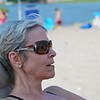 Aunt Cheryl is relaxing on another beach day