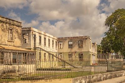 Abandoned hospital near Bridgetown