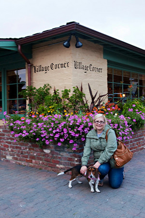 Autumn and Suki at the Village Corner restaurant in Carmel