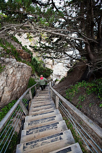 Stairway to the beach, Pismo Beach Cottage Inn