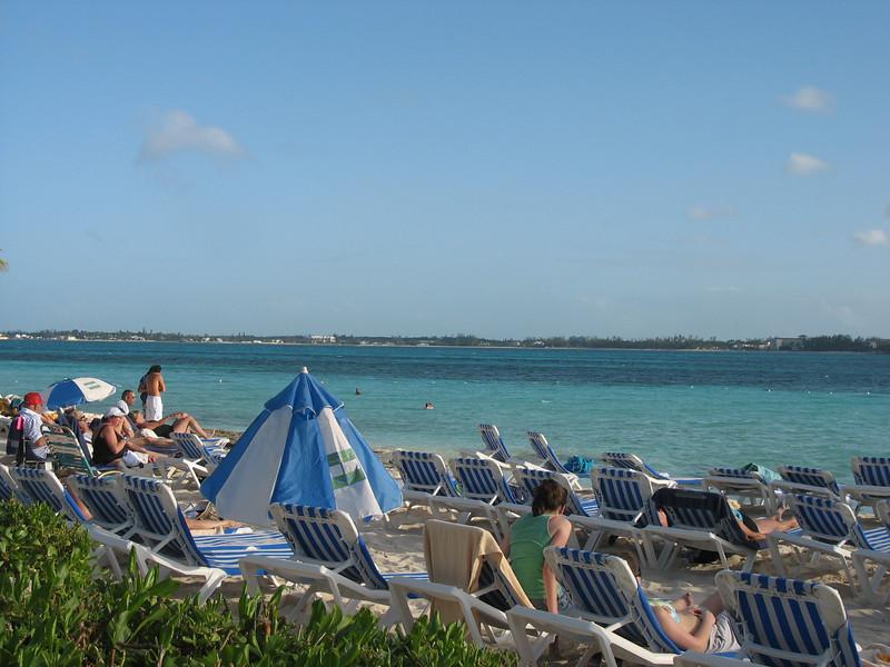 Blackbeard's Cay beach.