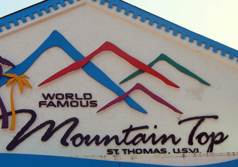 Atop the mountain.