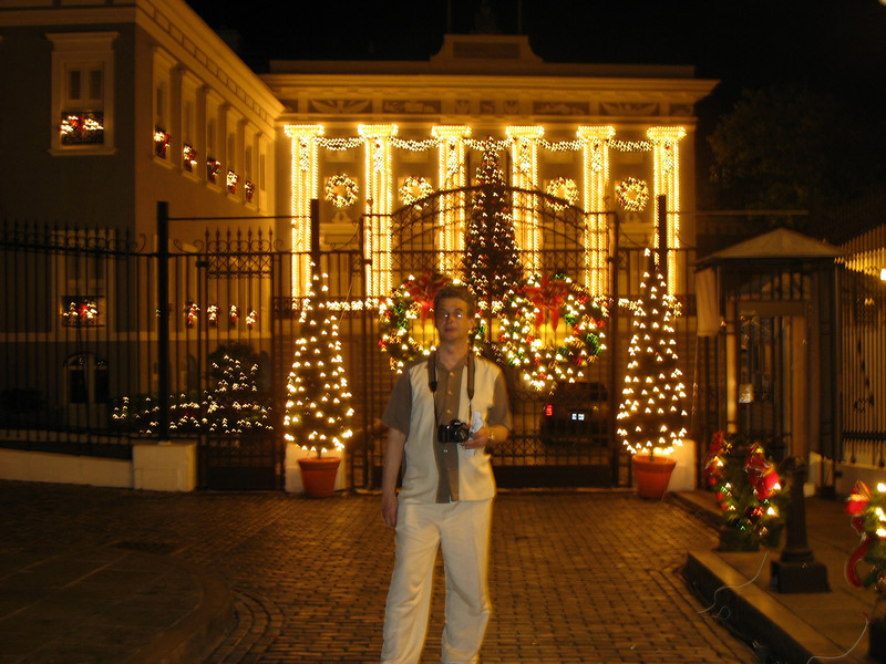 In front of the Governor's Mansion San Juan.