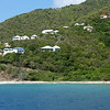 Shoreline as we approach Tortola.