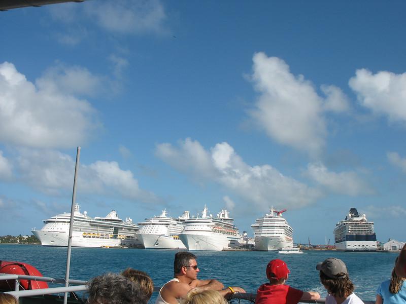 Ships docked in Nassau.