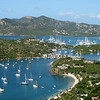 Panorama of English Harbor, Antigua from atop Shirley Heights.