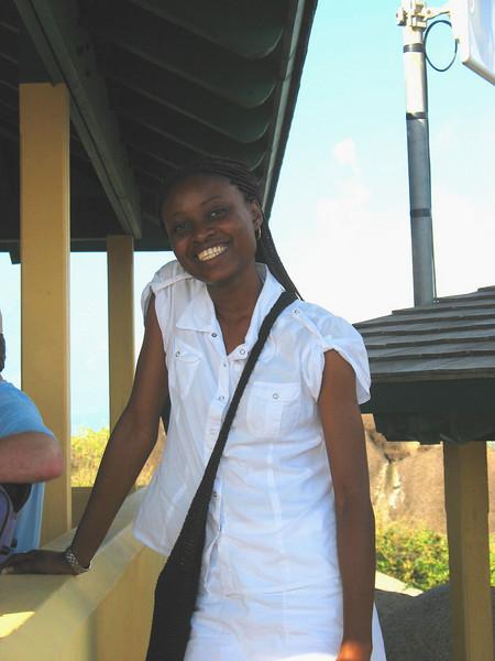 Our Virgin Gorda guide, Nikki.