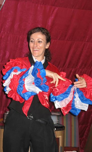 Our waitress, Lena from Bulgaria.