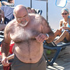 "Well, this Carnival, the ""fun"" ship. Home of funny activities such as the men's hairy chest contest."