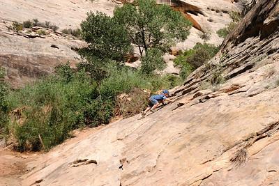 Climbing the slickrock