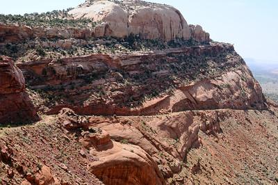Old highway descending Comb Ridge