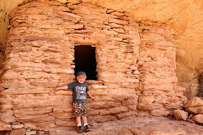 Posing at the ruin