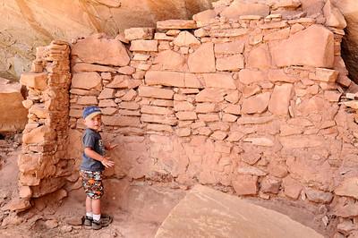 Brandon admiring the stonework
