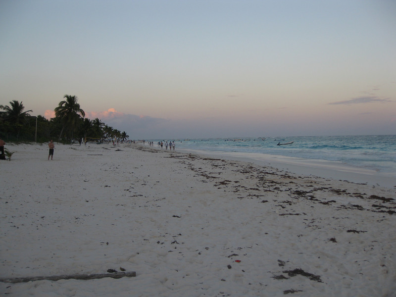 View of the beach at Tulum