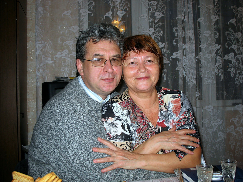 With Ekaterina Malisheva at her home. Rustem's 1st English teacher.