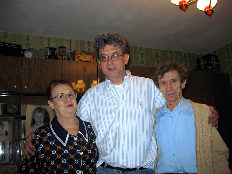 With Yelena & her husband, Valentin.