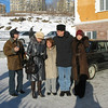 Outside our hotel. Sergei, Lena (a different one), Susan, Rustem, Paulina.